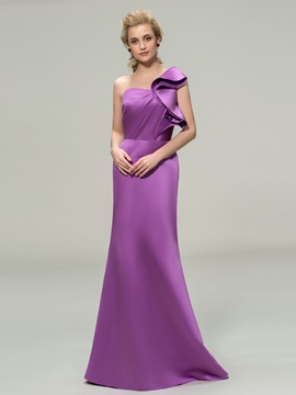 Simple Style Sheath Floor Length One Shoulder Bridesmaid Dresses online