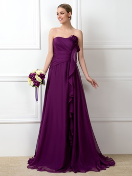 Sweetheart Floor Length A-Line Bridesmaid Dress & Bridesmaid Dresses on sale