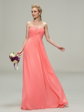 Classic Ruched Sweetheart Floor-Length Bridesmaid Dress & inexpensive Bridesmaid Dresses