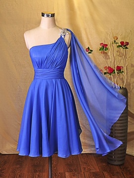 Simple One-Shoulder Mini Short Bridesmaid Dress & Bridesmaid Dresses from china