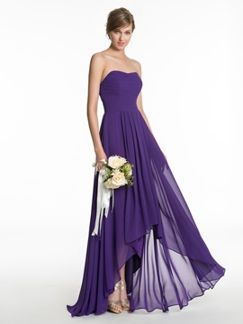 Simple Sweetheart Asymmetry Bridesmaid Dress & unusual Bridesmaid Dresses
