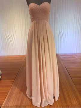 Beautiful Sweetheart A Line Long Bridesmaid Dress