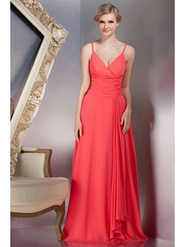 Chic A-Line Floor-Length Spaghetti Straps Yana's Bridesmaid Dress & inexpensive Bridesmaid Dresses
