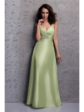 Pretty A-Line/Princess V-neck Floor-Length Renata's Bridesmaid Dress & Bridesmaid Dresses for less