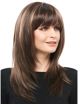 COSCOSS® Long Layered Straight Synthetic Hair Capless Wig