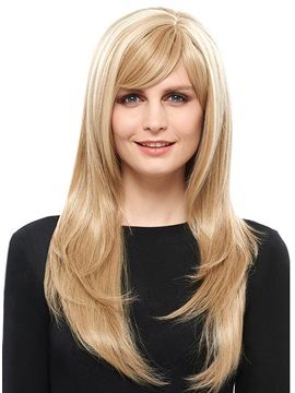 COSCOSS® Straight Capless Blonde Synthetic Hair Wig