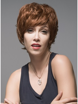 Mishair® Layered Short Charming Human Hair Capless Wig