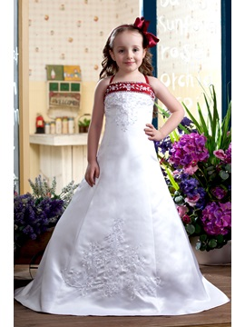 A-Line Spaghetti Sleeveless Flower Girl Dress & Flower Girl Dresses for sale