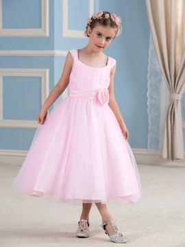 Cheap Tulle Overlay Pink Flower Girl Dress & Flower Girl Dresses on sale