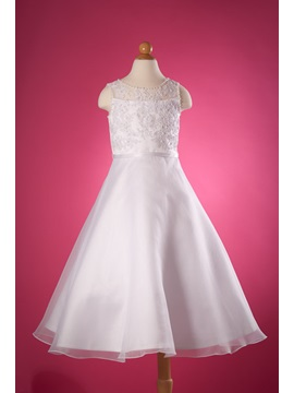 Elegant A-Line Ankle-Length Appliques Flower Girl Dress & Flower Girl Dresses under 300