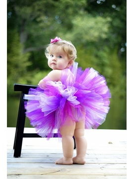 Short/Mini Strapless Empire Color Flower Girl Dress & colored Flower Girl Dresses