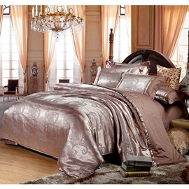 Vogue Solid Color Jacquard Pure Cotton 4-Piece Bedding Sets