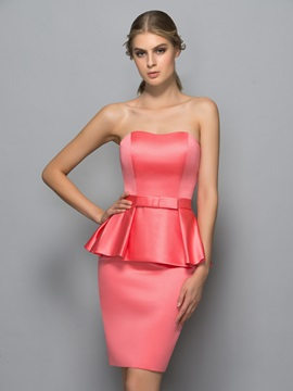 Simple Sweetheart Bowknot Sheath Formal Dress & quality Formal Dresses