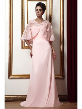 Delicate A-Line Sweetheart Pleats Long Taline's Mother of the Bride Dress With Jacket/Shawl & Mother of the Bride Dresses on sale