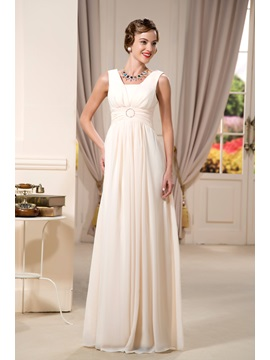 Sexy Beaded A-Line Square-Neck Floor-Length Mother of the Bride Dress & vintage Mother of the Bride Dresses