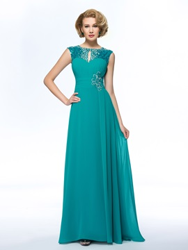 Modest Sequin Beaded Ruched Bodice Floor Length Mother of the Bride Dress & formal Mother of the Bride Dresses