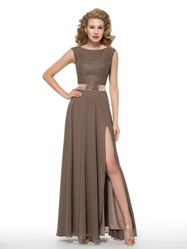 Fashionable Beaded Split-Front Long Mother of the Bride Dress & vintage style Mother of the Bride Dresses