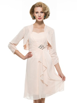 Short Sweetheart Mother of the Bride Dress with Matching Jacket & fairy Mother of the Bride Dresses