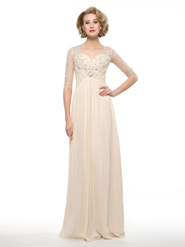 Floor Length A-Line Sweetheart Half Sleeve Mother of the Bride Dress & fairy Mother of the Bride Dresses