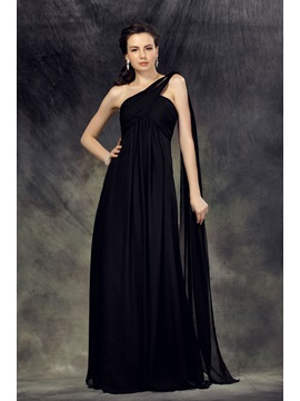 A-Line Floor-Length One-Shoulder Luba's Mother Of The Bride Dress & Mother of the Bride Dresses under 100