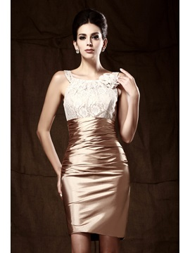 Glittering Sheath Scoop Neckline Lace Short Taline's Mother Of The Bride Dress & vintage Mother of the Bride Dresses