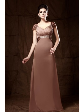 Elegant Column Cap Sleeves Sequins Pleats Taline's Mother of the Bride Dress & Mother of the Bride Dresses on sale