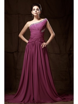 Graceful One-Shoulder Beading A-Line Long Taline's Mother of the Bride Dress & informal Mother of the Bride Dresses