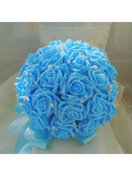 Fine Blue Rose Wedding Bouquet