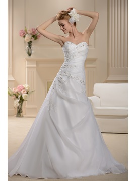 Fantastic Sweetheart Beading A-Line Chapel Wedding Dress & Wedding Dresses for less