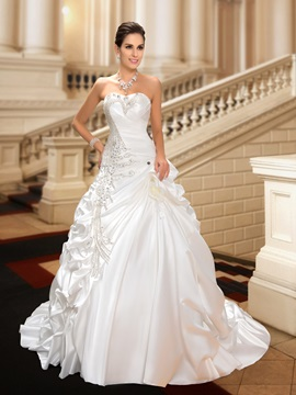 Sweetheart Rhinestone Embellishing Pick-ups Wedding Dress & Wedding Dresses for sale