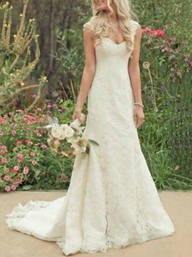 Sweetheart Court Train Lace Wedding Dress & Wedding Dresses under 500