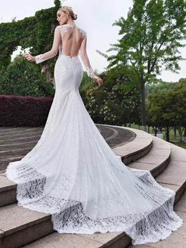 Charming Sweetheart Backless Lace Mermaid Wedding Dress & Wedding Dresses on sale