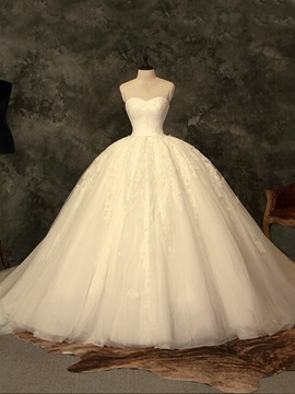 Classic Sweetheart Ball Gown Lace Wedding Dress & Wedding Dresses from china
