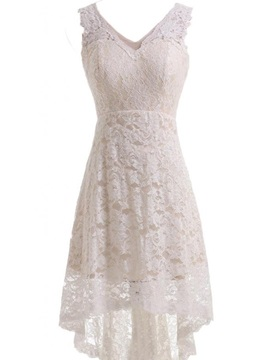 Simple V Neck Lace Beach Wedding Dress & Wedding Dresses 2012
