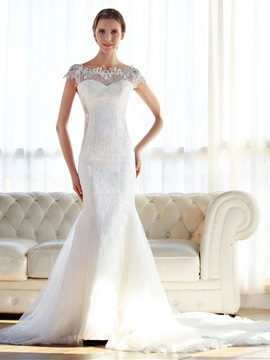 Elegant Off-The-Shoulder Lace Mermaid Wedding Dress & Wedding Dresses from china