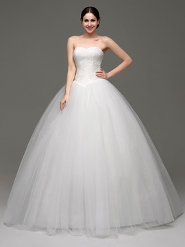 Sweetheart Lace Ball Gown Wedding Dress & informal Wedding Dresses