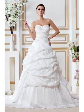 Junoesque A-Line/Princess Sweetheart Court Train Gerogia's Draped Bridal Gown & Wedding Dresses 2012