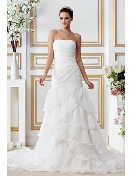 Gorgeous Plus Size Trumpet/Mermaid Strapless Gerogia's Wedding Dress & attractive Wedding Dresses
