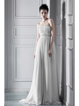 Glorious Empire Floor-length Strapless Chapel Ksenia's Wedding Dress & Wedding Dresses online