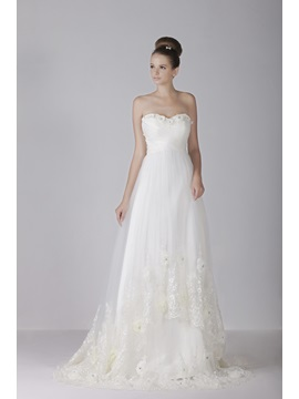 Amazing Empire Sweetheart Court Train Lace A-Line Aleksander's Wedding Dress & Wedding Dresses from china