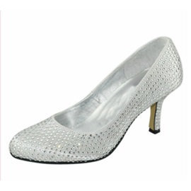 Popular Stiletto Heels Closed-toes Wedding Bridal Shoes