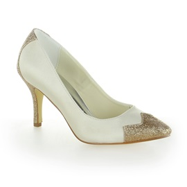 Shinning Satin Shimmering Powder Stiletto Heel Women Wedding Shoes
