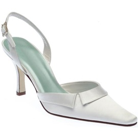 Satin Upper Stiletto Heel Closed-toes Sling-back Wedding Shoes