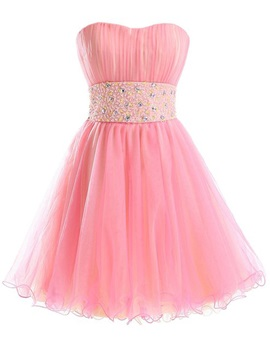 Lovely Sweetheart Beading Tulle Short Sweet 16 Dress