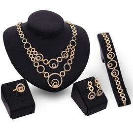 Hollow Geometric Pattern Women Jewelry Set