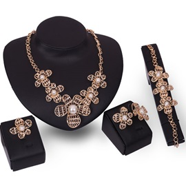 Elegant Flower Shape Design Women Jewelry Set