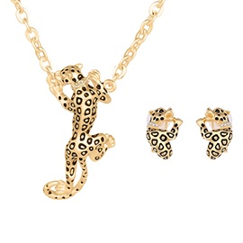 European Leopard Shaped Jewelry Set for Women