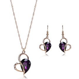 Sweetheart of Purple Gem Jewelry Set