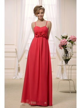 Sexy V-neck with Spaghetti Straps in Empire Slim A line Skirt 2013 New Bridesmaid Dress
