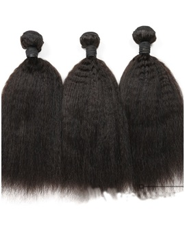 Kinky Straight Natural Color Human Hair Weave 1 PC